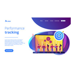 Performance management concept landing page vector