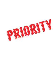 Priority rubber stamp vector
