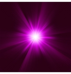Purple abstract explosion vector image