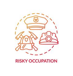 Risky occupation concept icon vector