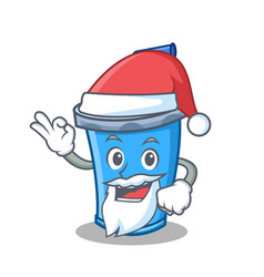 Santa soda drink character cartoon vector