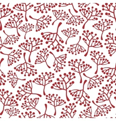 Seamless texture with brunches vector image