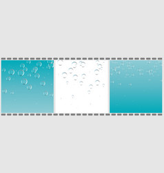 Set of clear water with bubbles abstract liquid vector