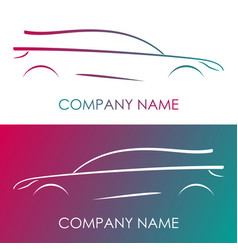 silhouette car on white and multicolor background vector image