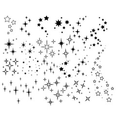 sparkle lights stars set glowing light effect vector image