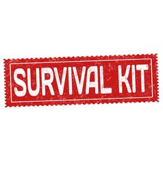 survival kit grunge rubber stamp vector image