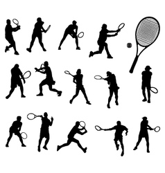 tennis 2 vector image