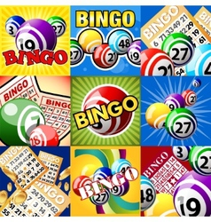 The set of bingo designes vector