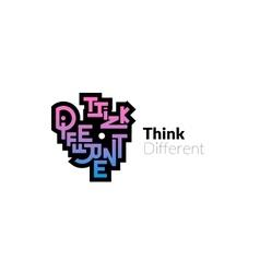 Think different phrase graffiti logo sign vector