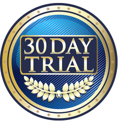 thirty day trial icon vector image