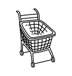 trolley icon doodle hand drawn or outline icon vector image