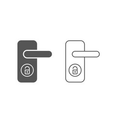 wireless door lock icon smart lock system vector image