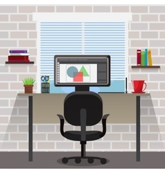 Workspace For Designer Composition vector image