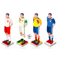 World cup football group vector