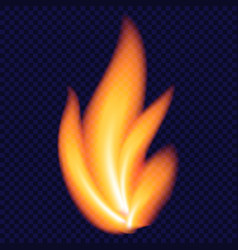 yellow fire concept background realistic style vector image