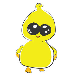 Young chick or color vector