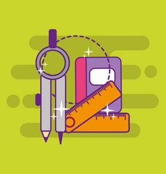 back to school supply vector image