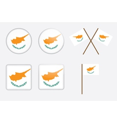 badges with flag of Cyprus vector image vector image