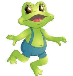 beautiful humanoid frog vector image