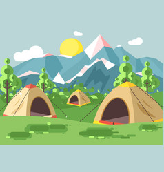 cartoon nature national park vector image