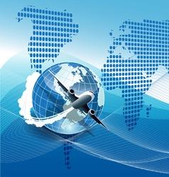 plane modern background vector image