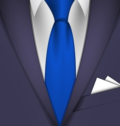 suit and tie vector image vector image