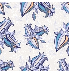 Bell flowers Seamless background vector image vector image