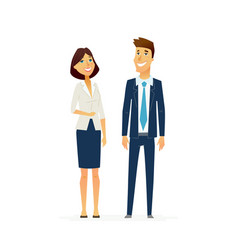 business people - modern flat design vector image vector image