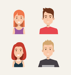 group of people students portrait young style vector image vector image