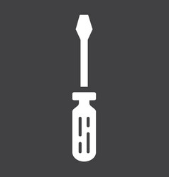 screwdriver glyph icon build and repair tool vector image