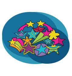 stars design set cartoon free hand draw doodle vector image vector image
