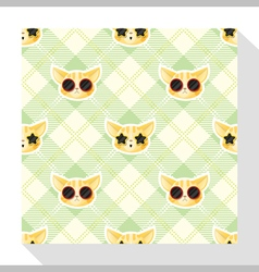 Animal seamless pattern collection with cat 4 vector image