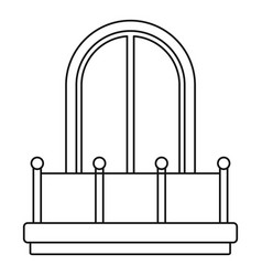arched window icon outline style vector image vector image