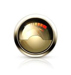 Audio Gauge vector image vector image