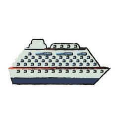 cruise ship icon vector image vector image
