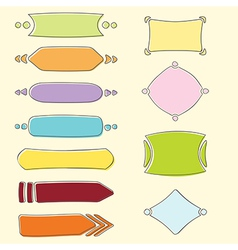 Set of banners and frames vector image vector image