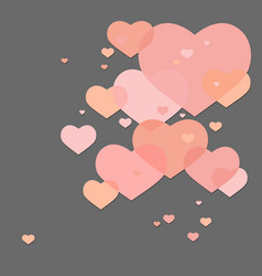Abstract valentine hearts vector image vector image