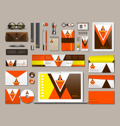 business corporate identity items set vector image vector image