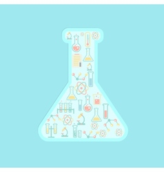 concept education icons in chemistry tube vector image vector image
