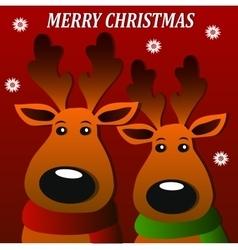 merry christmass deers vector image vector image
