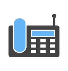 Wireless landline phone vector