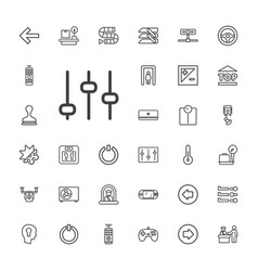 33 control icons vector