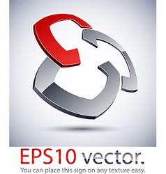3D modern logo pattern vector