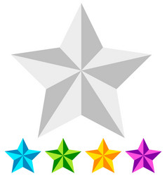 3d star star icon faceted star beveled star white vector