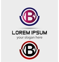 Abstract Letter b Icon vector