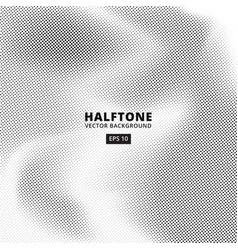 background wave point dot halftones vector image
