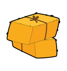 Bales of hay icon vector