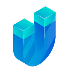 blue magnet icon isometric style vector image
