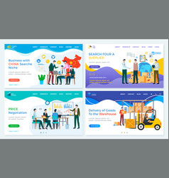 Business with china search niche and supplier vector