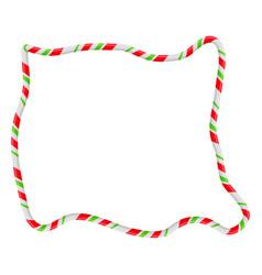 Candy cane frame border random shape christmas vector